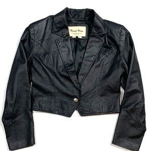 Pioneer Wear Womens S Vintage Leather Jacket Coat